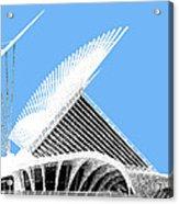Milwaukee Skyline Art Museum - Light Blue Acrylic Print by DB Artist