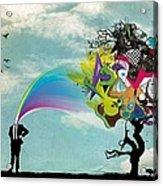 Mind Outburst Acrylic Print by Gianfranco Weiss