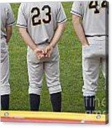 Minor League Baseball Players Acrylic Print by Jim West
