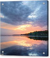 Mirrored Sunset Acrylic Print by JC Findley
