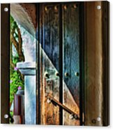 Mission Door Acrylic Print by Joan Carroll