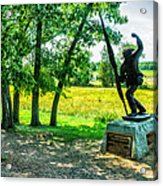 Mississippi Memorial Gettysburg Battleground Acrylic Print by Bob and Nadine Johnston