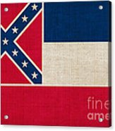 Mississippi State Flag Acrylic Print by Pixel Chimp