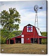 Missouri Star Quilt Barn Acrylic Print by Cricket Hackmann