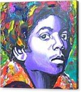 MJ Acrylic Print by Jonathan Tyson