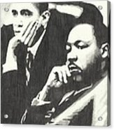 Mlk And President Obama Acrylic Print by Pics By Nick