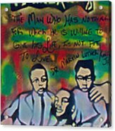 Mlk Fatherhood 1  Acrylic Print by Tony B Conscious