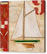 Model Yacht Collage I Acrylic Print by Paul Brent