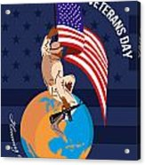 Modern American Veterans Day Greeting Card Acrylic Print by Aloysius Patrimonio