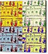 Modern Art Money Acrylic Print by Kenneth Summers