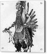 Mohawk Dancer Acrylic Print by Lew Davis