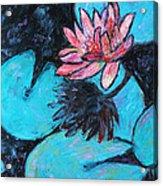 Monet's Lily Pond IIi Acrylic Print by Xueling Zou