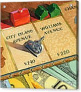 Monopoly On City Island Avenue Acrylic Print by Marguerite Chadwick-Juner