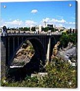 Monroe Street Bridge - Spokane Acrylic Print by Michelle Calkins