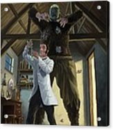 Monster In Victorian Science Laboratory Acrylic Print by Martin Davey