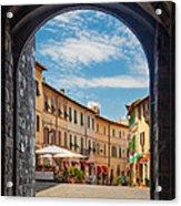 Montalcino Loggia Acrylic Print by Inge Johnsson