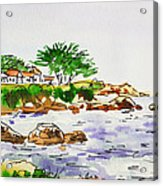 Monterey- California Sketchbook Project Acrylic Print by Irina Sztukowski