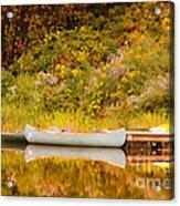 Montpelier Canoe Acrylic Print by Deborah Benoit
