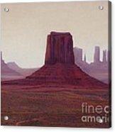 Monument Valley- Haze Acrylic Print by Xenia Sease