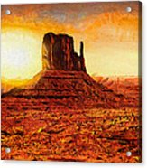 Monument Valley Acrylic Print by Mo T