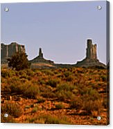 Monument Valley - Unusual Landscape Acrylic Print by Christine Till