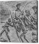 Monuments On The Gettysburg Battlefield Ver 2 Acrylic Print by Randy Steele