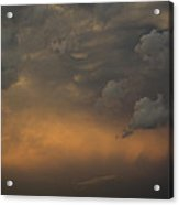 Moody Storm Sky Over Lake Ontario In Toronto Acrylic Print by Georgia Mizuleva