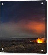 Moon Bows Lava Glows And Halos Acrylic Print by Sean King