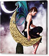 Moon Fairy Acrylic Print by Alexander Butler