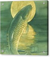 Moon Koi Acrylic Print by Robert Hooper