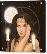 Moon Priestess Acrylic Print by John Silver
