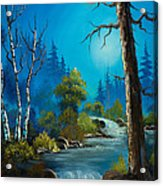 Moonlight Stream Acrylic Print by C Steele