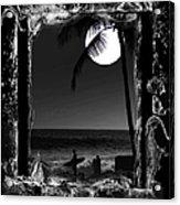 Moonlight Surf Acrylic Print by Athala Carole Bruckner
