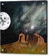 Moonrise Over Sedona Acrylic Print by John Lyes