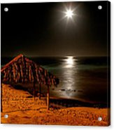 Moonset Over Windnsea Acrylic Print by Peter Tellone