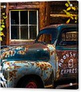 Moonshine Express Acrylic Print by Debra and Dave Vanderlaan