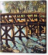 Morning At The Old North Bridge Acrylic Print by Rita Brown