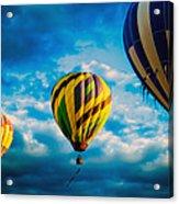 Morning Flight Hot Air Balloons Acrylic Print by Bob Orsillo