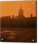 Morning Glow Over City Hall Acrylic Print by Jim Vance