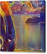Morning Glow Acrylic Print by Robert Hooper