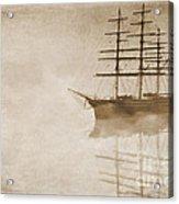 Morning Mist In Sepia Acrylic Print by John Edwards