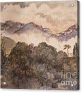 Morning Mist Pasadena Acrylic Print by Nancy Kane Chapman