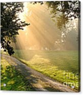 Morning On Country Road Acrylic Print by Olivier Le Queinec