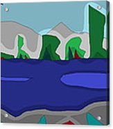 Morning On The Fraser River Near Maple Ridge Acrylic Print by David Skrypnyk
