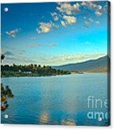 Morning Reflections On Lake Cascade Acrylic Print by Robert Bales