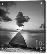 Morning Sunrise By The Dock Acrylic Print by Dan Friend
