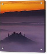 Morning Tuscan Mist Acrylic Print by Andrew Soundarajan