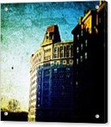 Morningside Heights Blue Acrylic Print by Natasha Marco