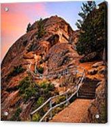 Moro Rock Path Acrylic Print by Inge Johnsson