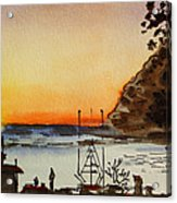 Morro Bay - California Sketchbook Project Acrylic Print by Irina Sztukowski